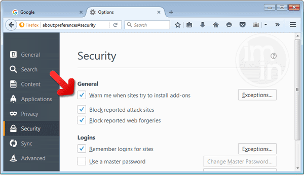 Firefox Security Settings