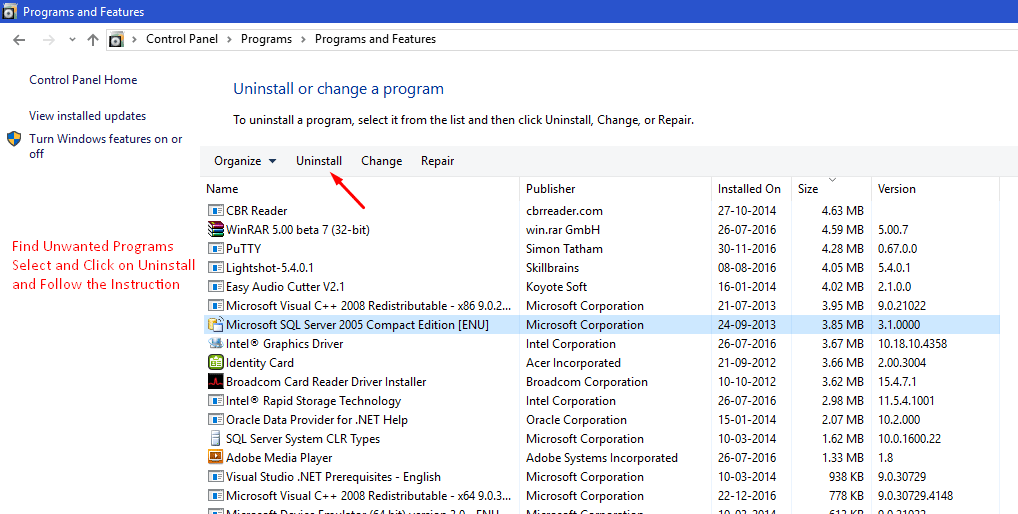 Remove Unwanted Application from Win 10 - 3