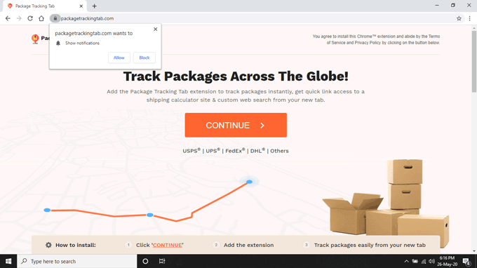 Remove Package Tracking Tab Browser Hijacker