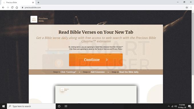 Remove Precious Bible Browser Hijacker