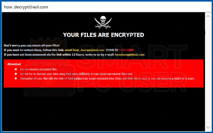 Uninstall .HOW Ransomware