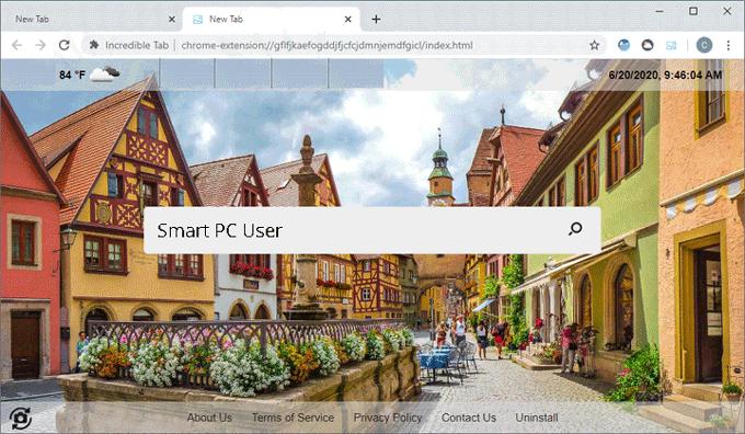 Remove Incredible Tab Browser Hijacker