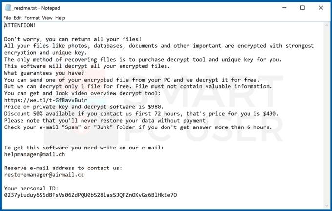 Uninstall Pykw Ransomware