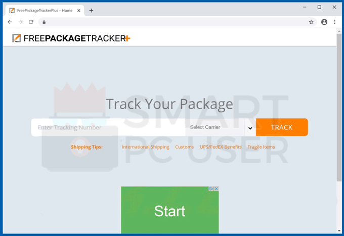 Delete Free Package Tracker Plus Adware
