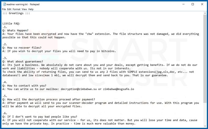 Delete Zbw Ransomware