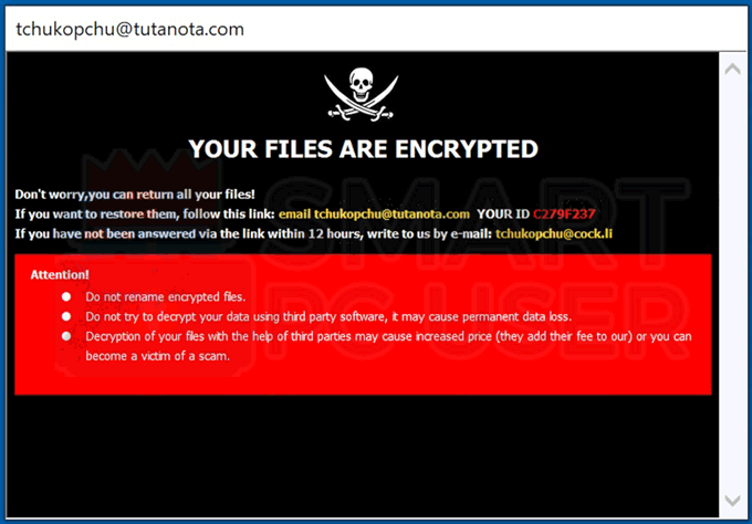 Uninstall Chuk Ransomware