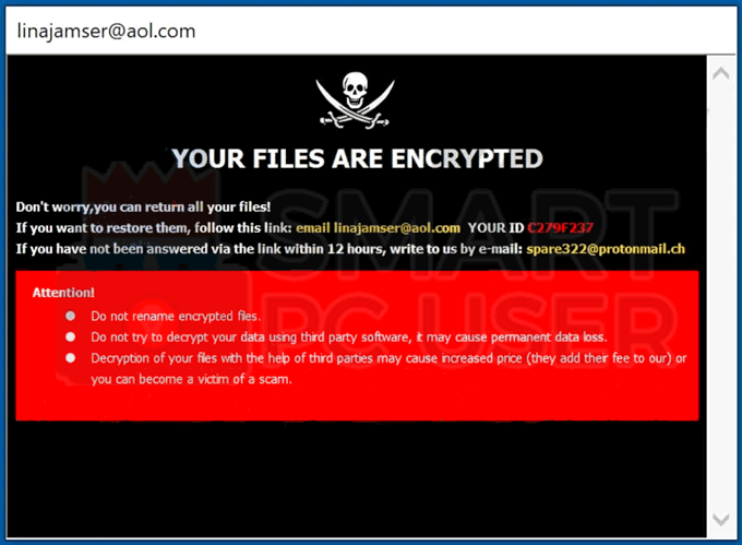 Uninstall Lina Ransomware